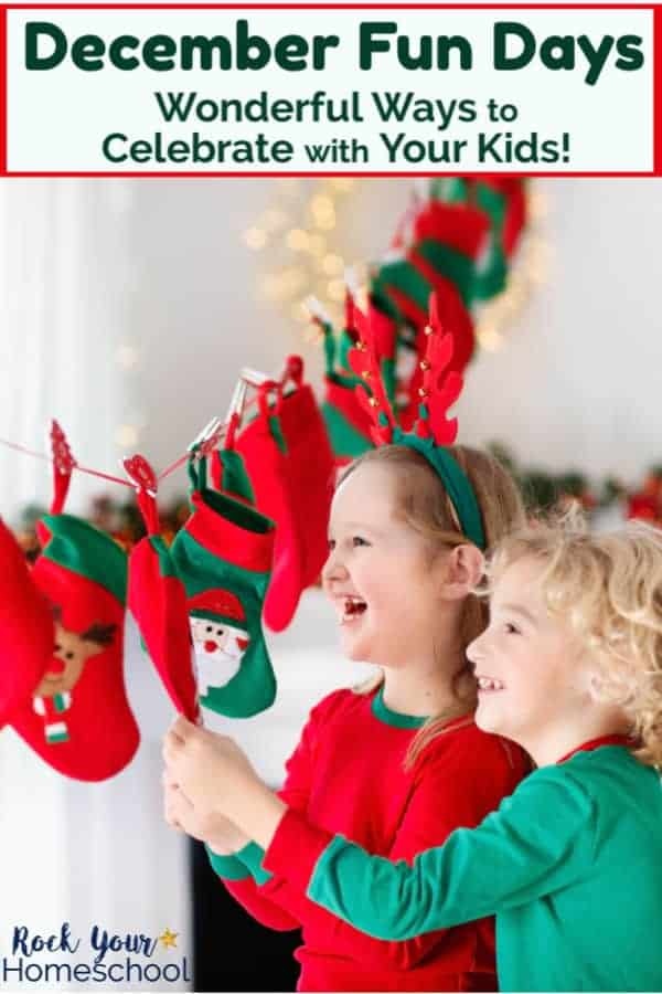 Enjoy celebrate December fun days with kids with these great ideas, like how to have a blast with a DIY Christmas countdown