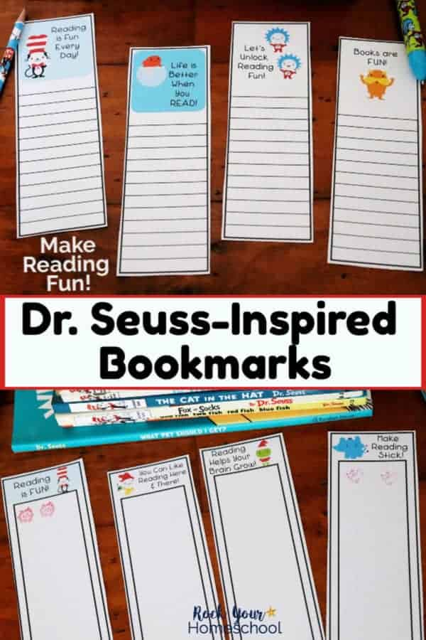 Dr. Seuss-Inspired Bookmarks & More for Amazing Reading Fun