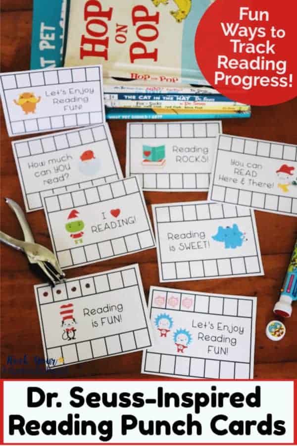 Fun Dr. Seuss-Inspired Reading Punch Cards for Kids