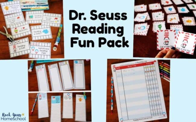 This Dr. Seuss-Inspired Reading Fun Pack is full of a variety of reading motivational tools. Get kids excited about books with these punch cards, bookmarks, reading log, & more.