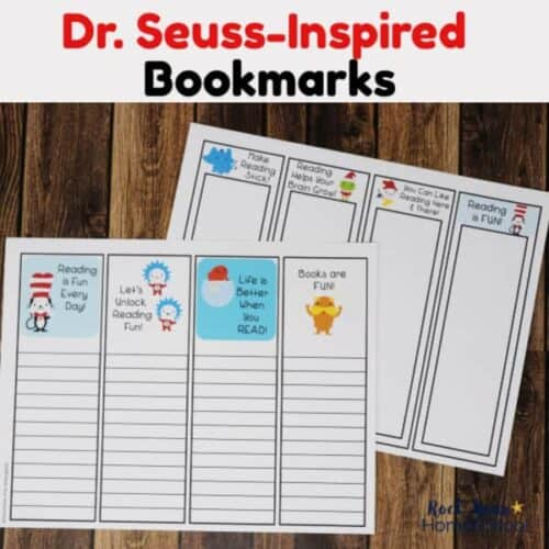 2 pages of Dr. Seuss-Inspired bookmarks to encourage reading fun