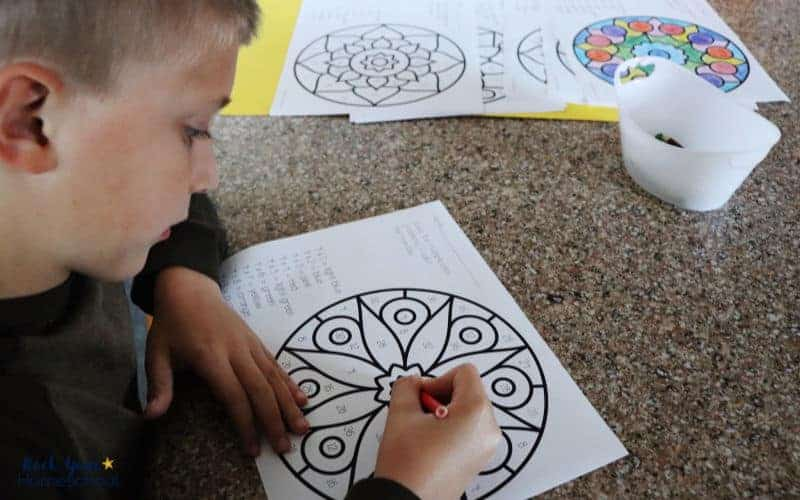 Your kids will absolutely love these mandala multiplication coloring pages that make math + art fun.