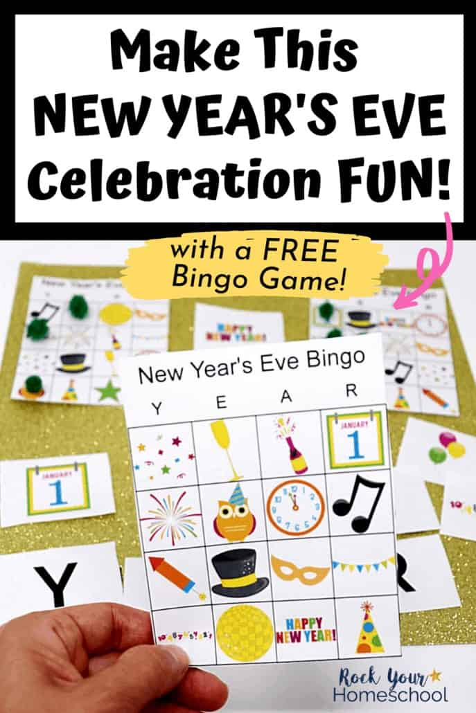New Year's Eve bingo game to feature the amazing fun you'll with your kids with this awesome free activity