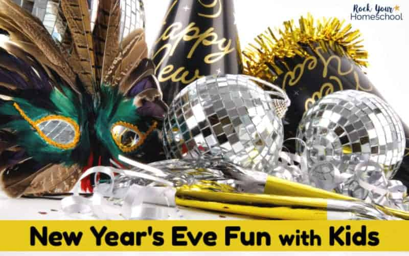 Enjoy New Year's Eve Fun with Kids using these wonderful ideas & resources.