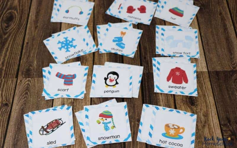 These super cute memory game cards for kids with winter themes are excellent ways to enjoy easy fun.
