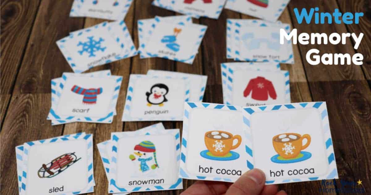 This Winter Memory Game is an awesome way to enjoy interactive fun with your kids.