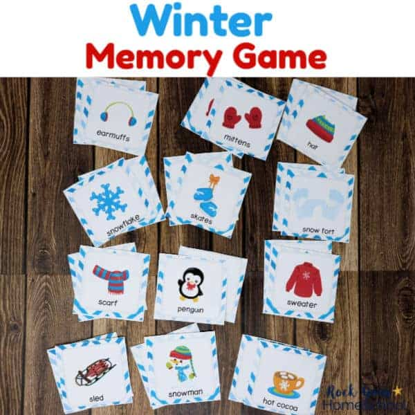 Get this Winter Memory Game for easy seasonal fun to enjoy with your kids.