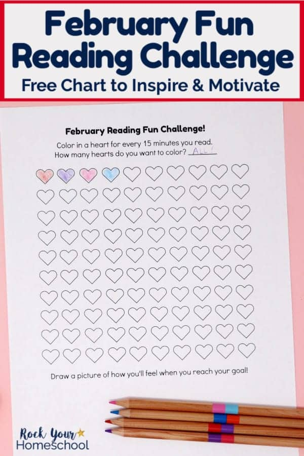 Free February Fun Reading Challenge for Kids