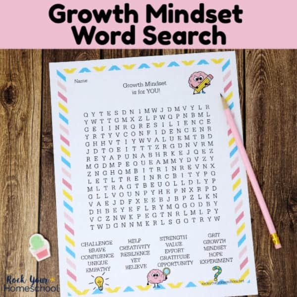 This free Growth Mindset Word Search is a wonderful printable activity that reinforces these important life skills for kids.