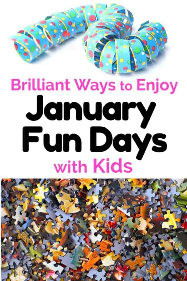 Polka dot streamer & puzzle pieces to feature easy ways to enjoy January fun days with kids