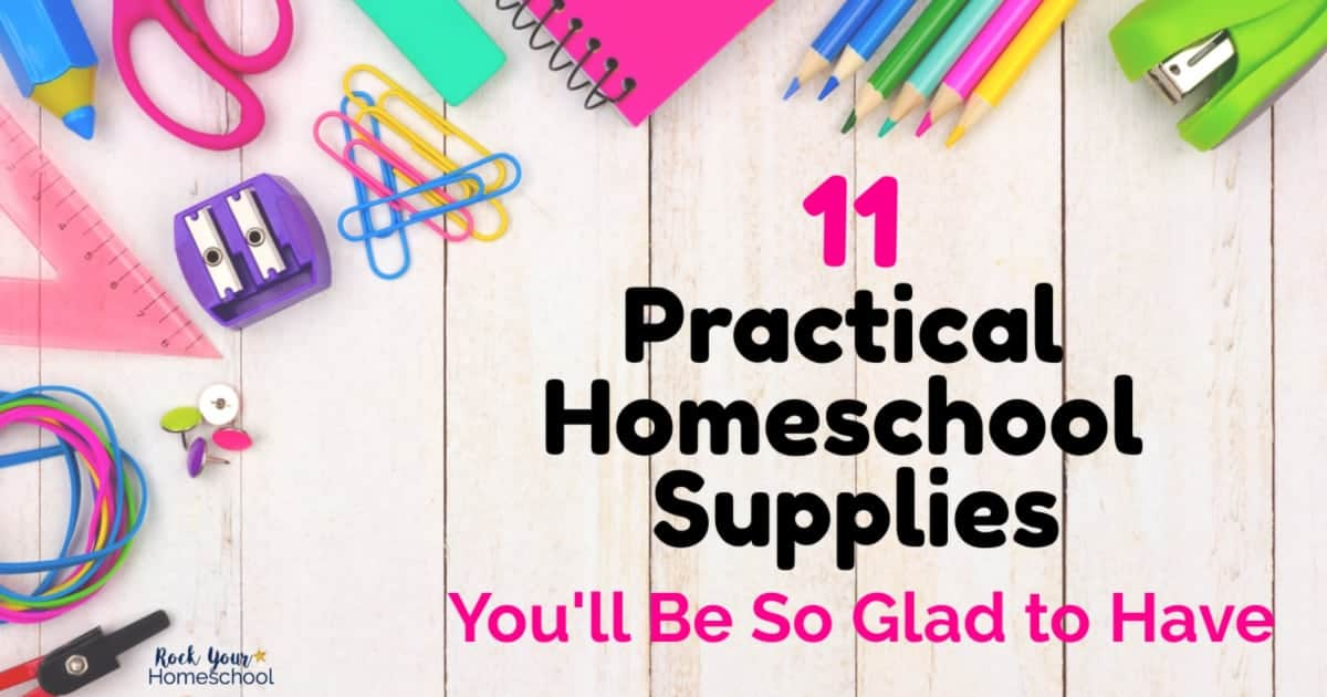 These 11 practical homeschool supplies are my top suggestions after homeschooling 5 boys for 8 years to help your homeschool thrive.
