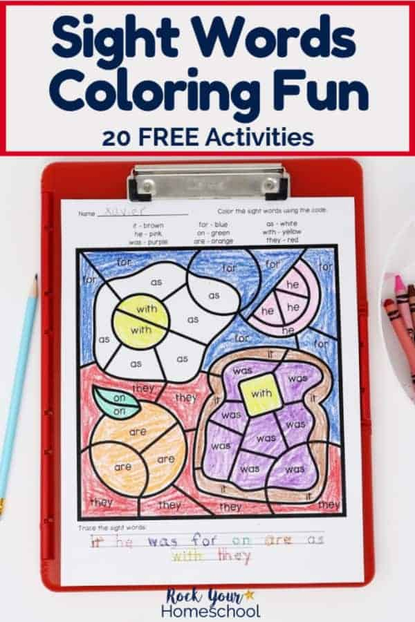 Sight Words Coloring Pages For Fantastic Reading Fun Rock Your Homeschool
