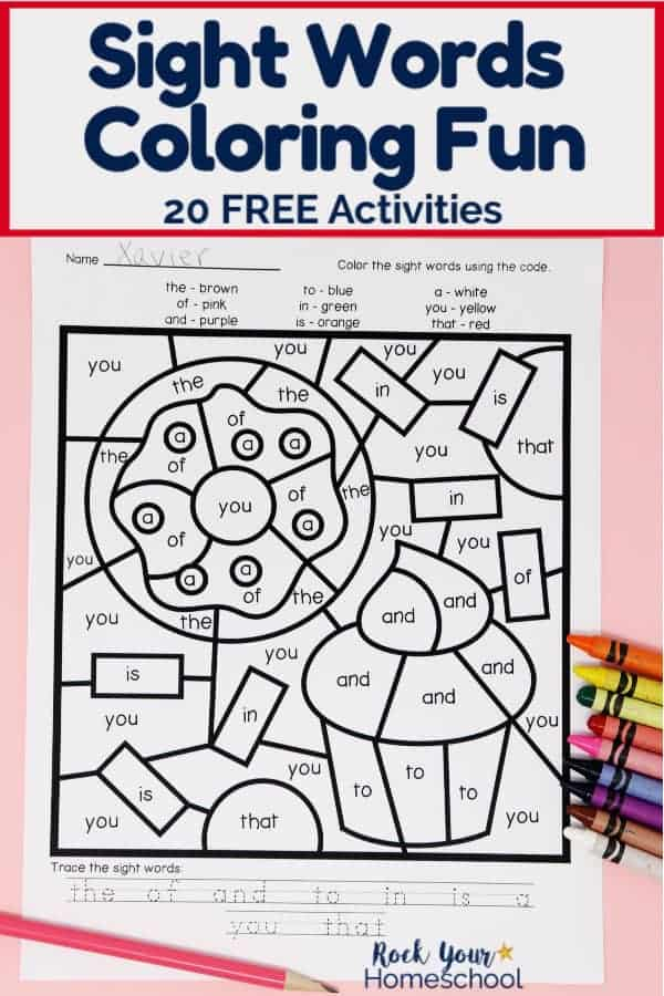 Sight Words Coloring Pages For Fantastic Reading Fun - Rock Your Homeschool