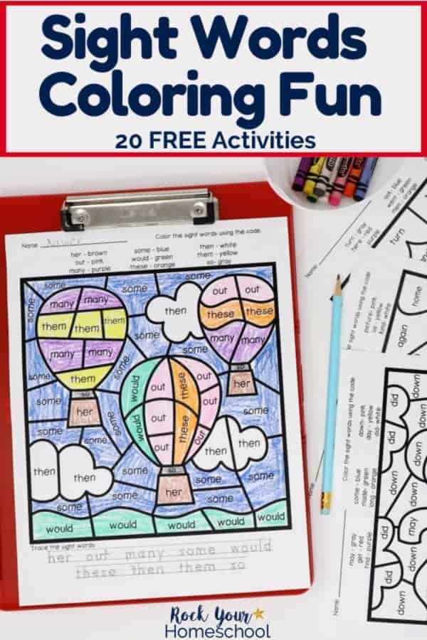 - Sight Words Coloring Pages For Fantastic Reading Fun - Rock Your Homeschool
