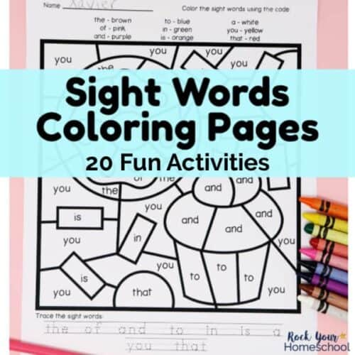 Grab these 20 fun Sight Words Coloring Pages to make learning how to read fun for your kids.