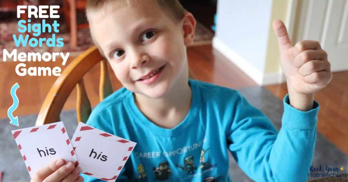 These free sight words memory games are wonderful ways to get your kids excited about learning how to read.