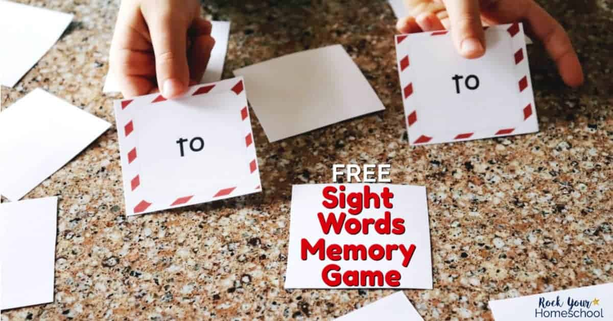 Help your kids have fun as they learn how to read with these free printable sight words memory game cards.