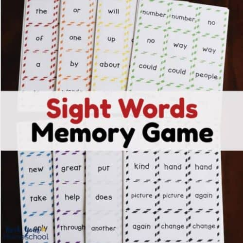These free sight words memory games are great ways to make learning how to read fun for your kids.