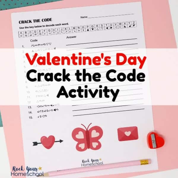 This free Valentine's Day Crack the Code Activity is a wonderful way to enjoy holiday fun with kids.