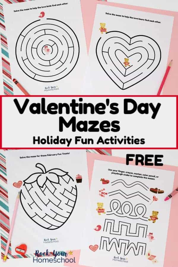 Free Valentine's Day Mazes for Holiday Fun Activities