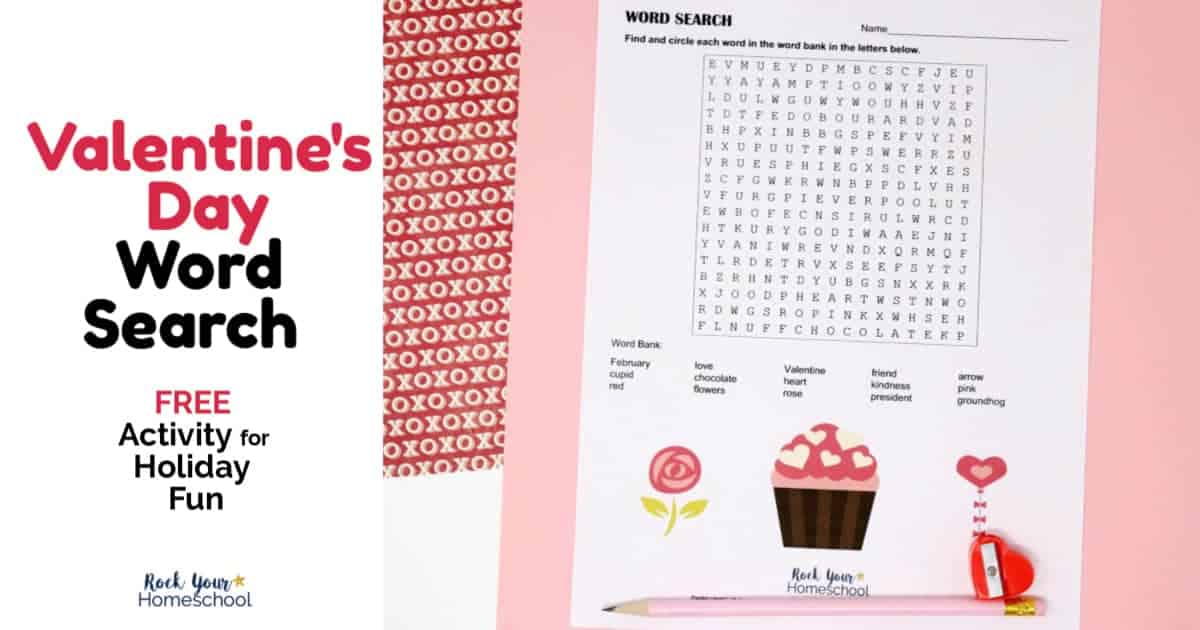 Enjoy easy holiday fun with your kids using these free printable Valentine's Day Word Search activity.