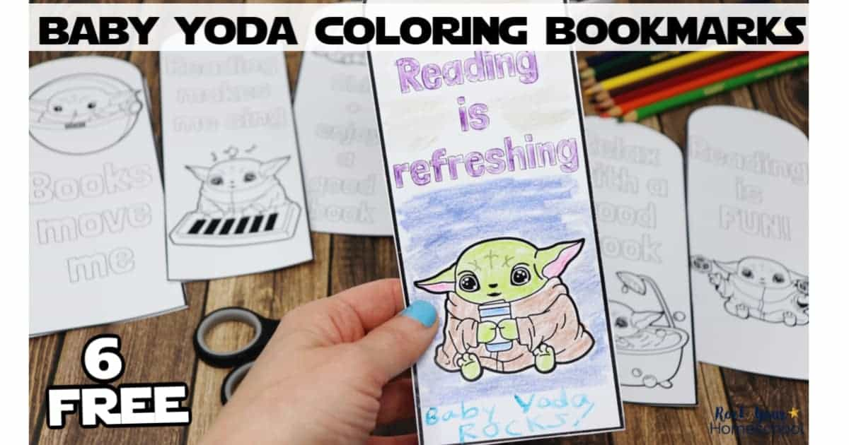 Your Star Wars fans will have a blast with these free coloring bookmarks featuring Baby Yoda.