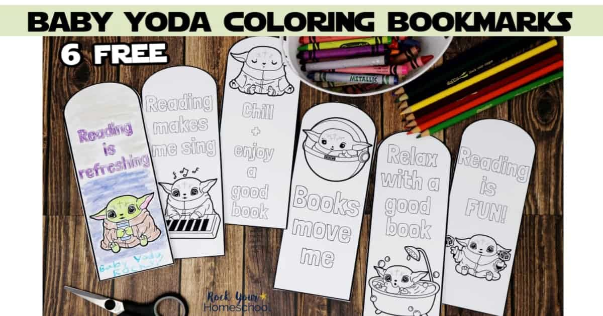 These 6 free Baby Yoda coloring bookmarks are wonderful ways to get your Star Wars fans excited about reading.