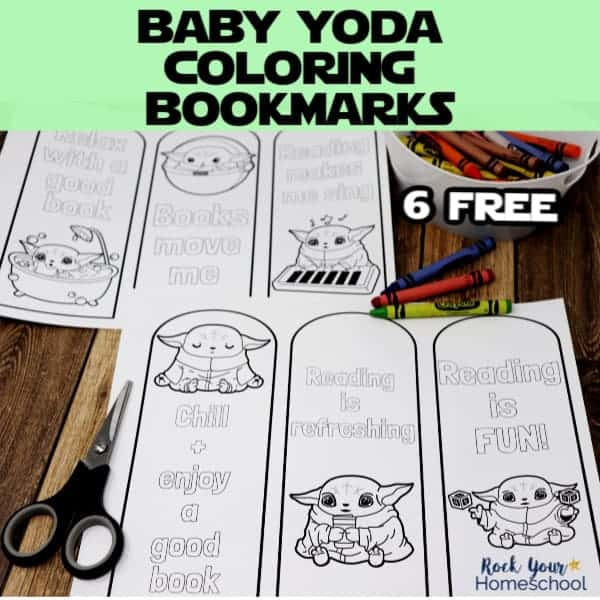 These 6 free Baby Yoda coloring bookmarks are awesome ways to motivate your Star Wars fans to read.