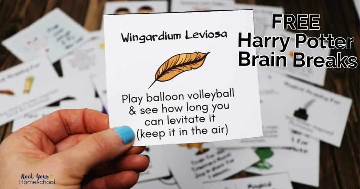Add magical learning fun to your day with these 24 free Harry Potter-Inspired brain breaks cards.