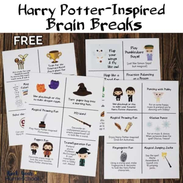 Have magical learning fun with these Harry Potter-Inspired Brain Breaks.
