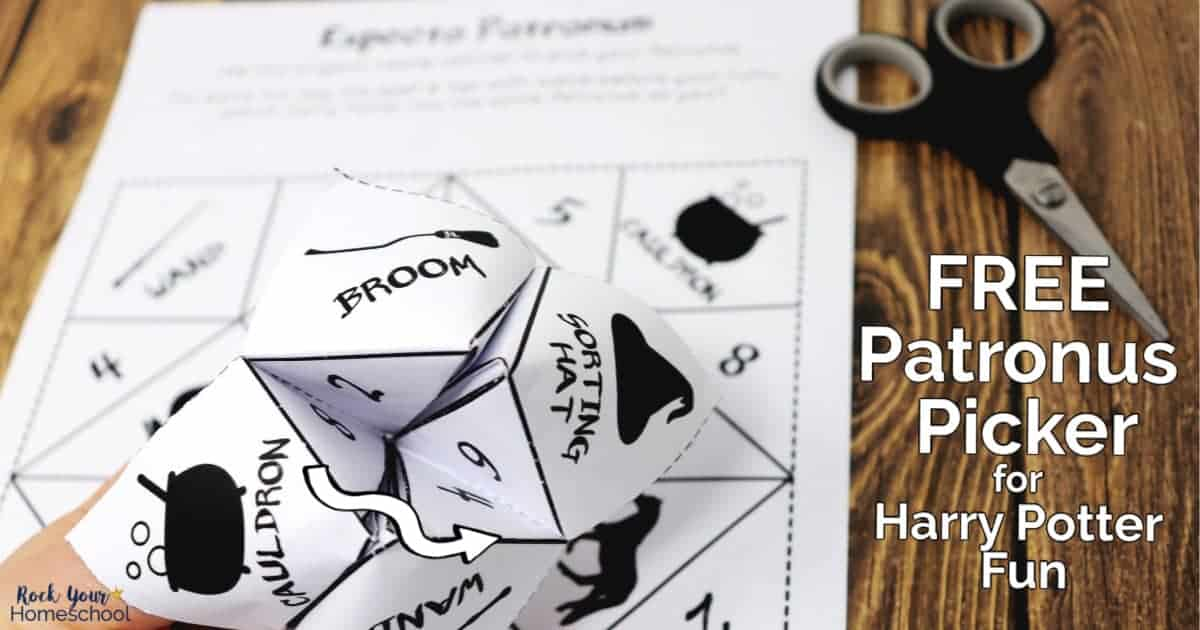 This free printable Patronus Picker will be a huge hit with your Harry Potter fans.