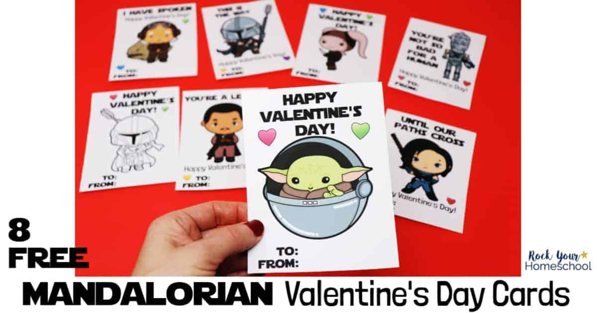 Who can resist the cuteness of Baby Yoda? Grab your 8 free Mandalorian Valentine's Day cards for a special holiday.