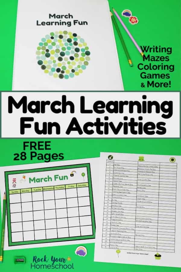 Free March Learning Fun Activities Your Kids Will Love