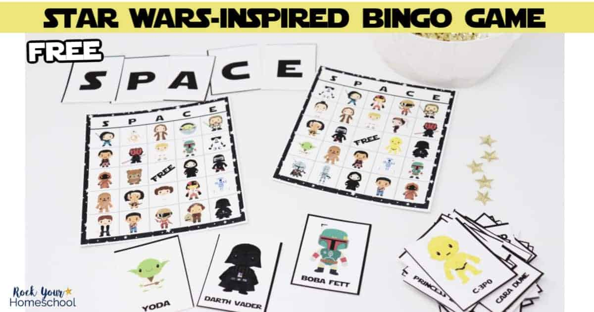 Your Star Wars fans will absolutely love this free Star Wars-Inspired bingo game.