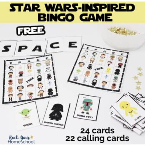 Your Star Wars fan will love this free printable Star Wars-Inspired bingo game.