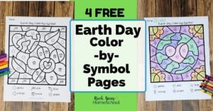 These Earth Day color-by-symbol pages are amazing additions to your mini-unit study & more.