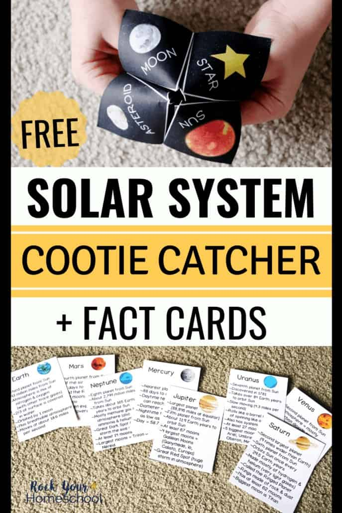 Amazing Solar System Activity with Free Cootie Catcher