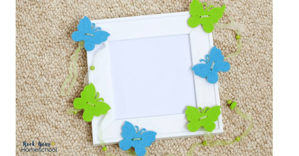 Enjoy creative fun at home with kids using these 6 picture frame craft ideas.