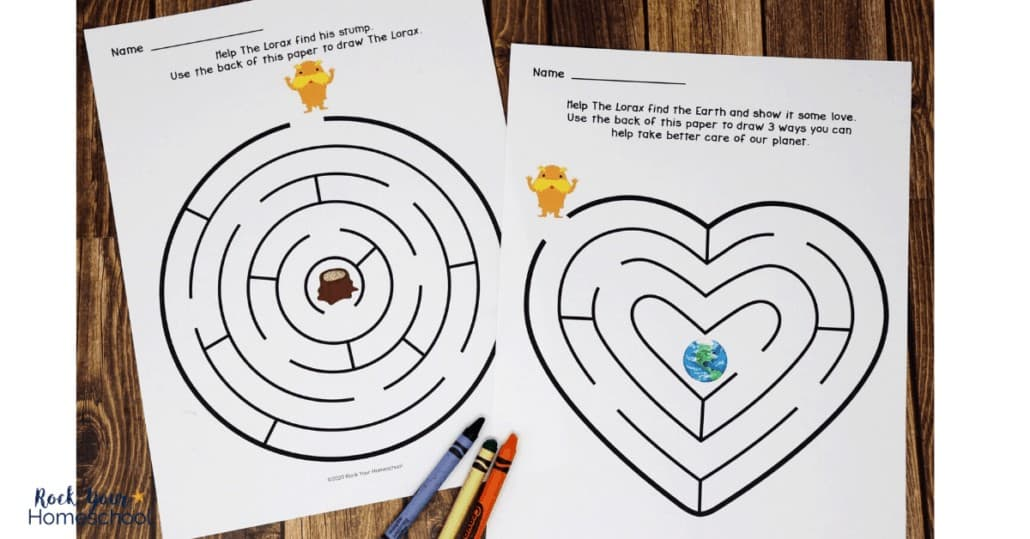 These free Lorax mazes are awesome activities to enjoy with your kids.