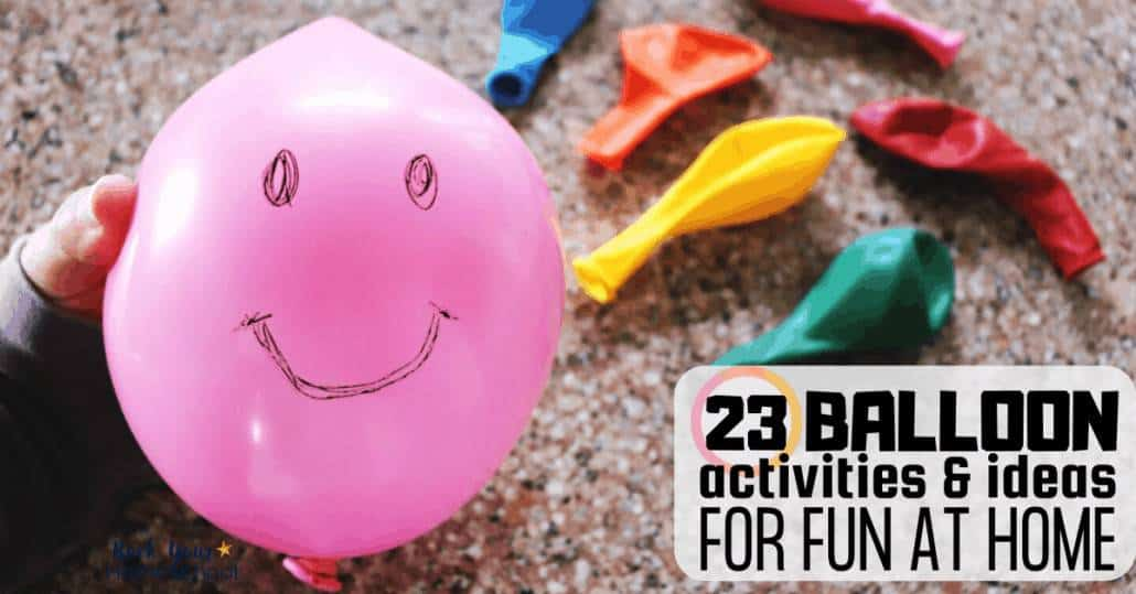 Discover excellent ways to have fun at home with your kids using these 13 balloon activities & ideas.