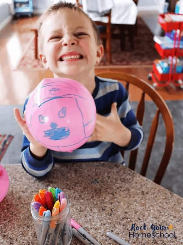 Enjoy a fun activity with kids at home with balloon decorating.