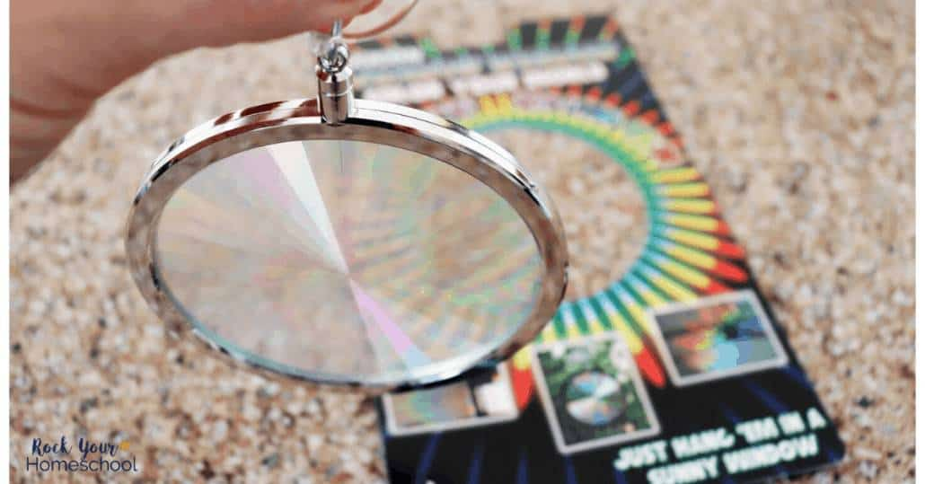This cool suncatcher is a fantastic way to learn about light diffraction grating for science fun.