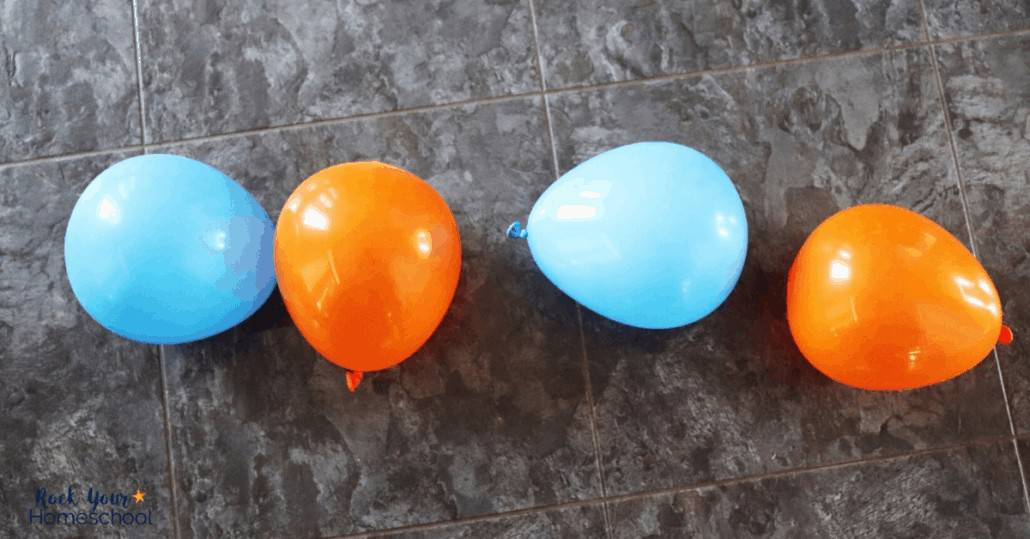 Have learning fun at home with balloons & patterns.