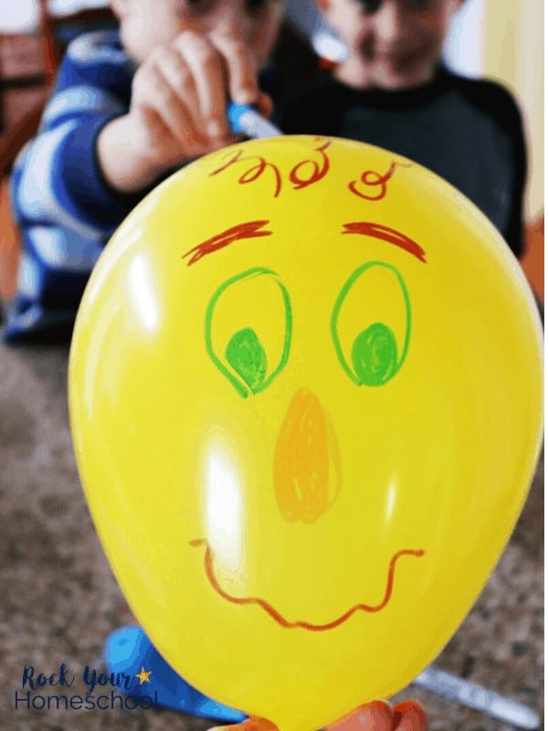 Give your kids an easy & creative activity with decorating balloons with silly faces.