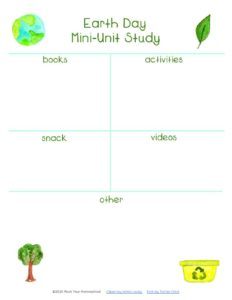 thumbnail of Earth Day Mini-Unit Study Planning Page