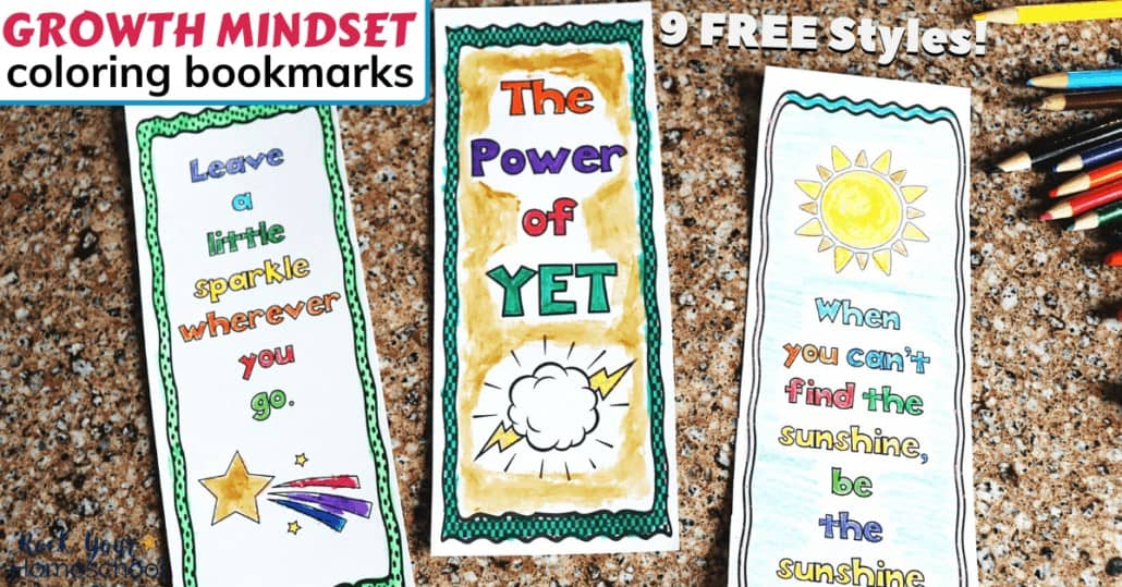 These 9 free Growth Mindset Coloring Bookmarks are easy, fun, & creative ways to help your kids learn about & practice growth mindset skills.