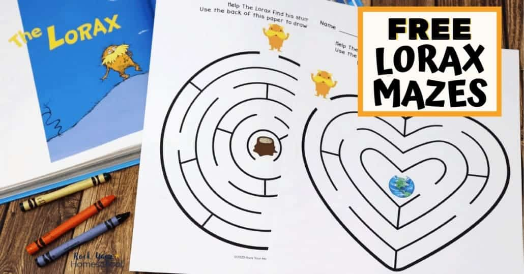 These free Lorax mazes are awesome activities to enjoy with the popular Dr. Seuss book.