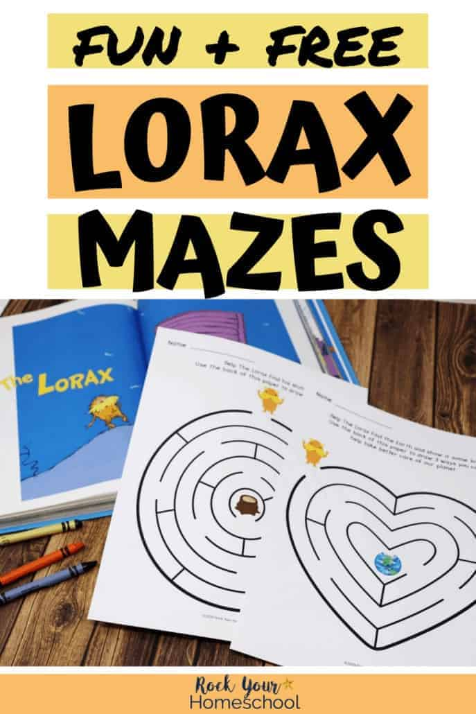 Fun & Free Mazes for Fantastic The Lorax Activities