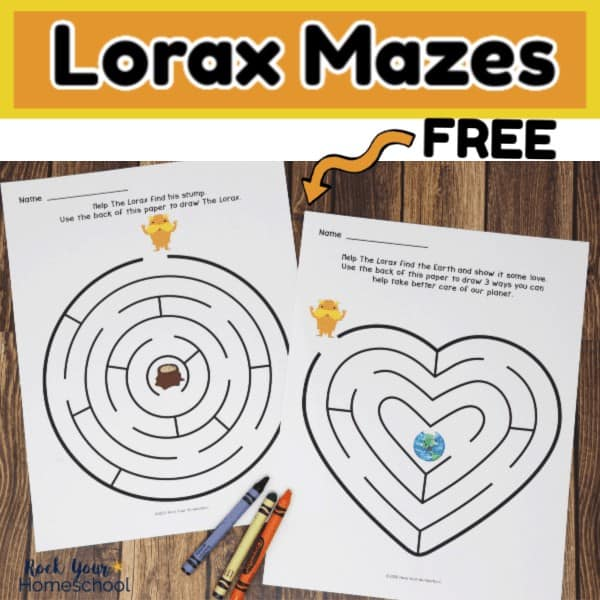 These free Lorax Mazes are amazing activities to extend the learning fun with this popular Dr. Seuss book.