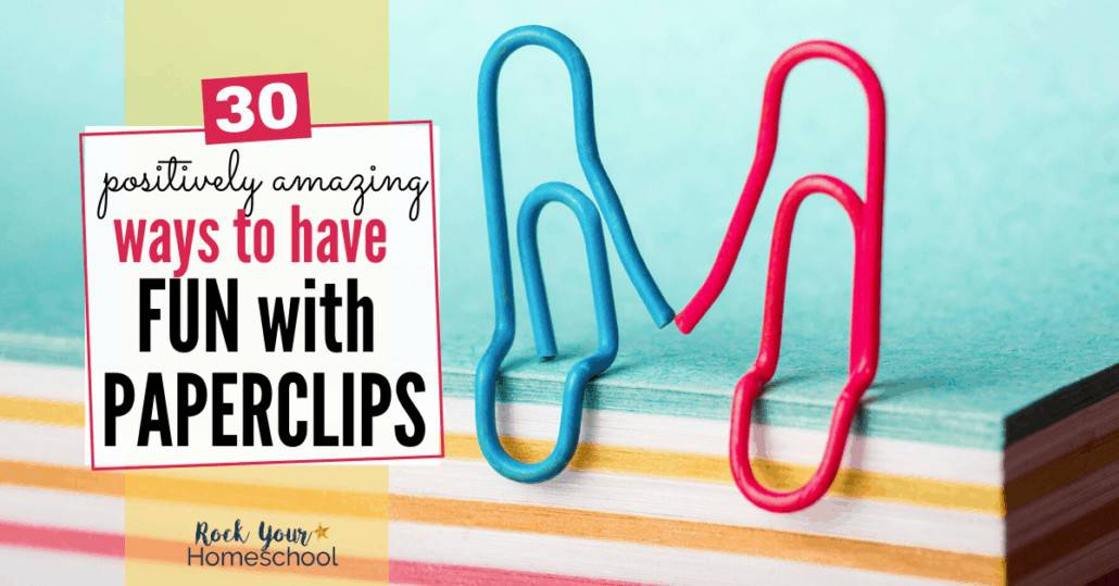 Check out these 30 awesome ways to have frugal fun with paperclips.